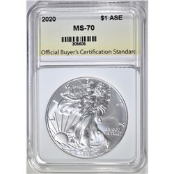 2020 AMERICAN SILVER EAGLE OBCS PERFECT GEM BU