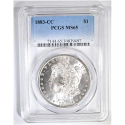 1883-CC MORGAN DOLLAR  PCGS MS-65