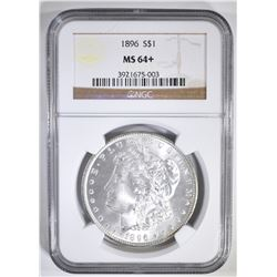 1896 MORGAN DOLLAR  NGC MS-64+