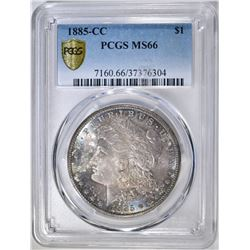 1885-CC MORGAN DOLLAR  PCGS MS-66