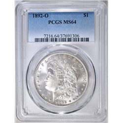 1892-O MORGAN DOLLAR  PCGS MS-64
