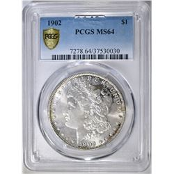 1902 MORGAN DOLLAR  PCGS MS-64