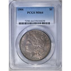 1904 MORGAN DOLLAR  PCGS MS-64