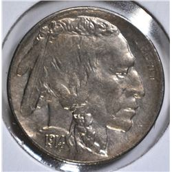 1914-D BUFFALO NICKEL, AU