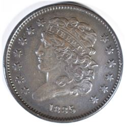 1835 HALF CENT AU/BU