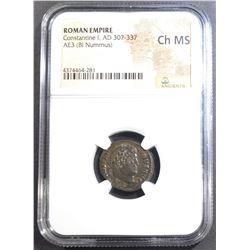 AD 307-337 CONSTANTINE I  NGC XF