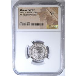 AD 247-249 PHILIP II  NGC VF