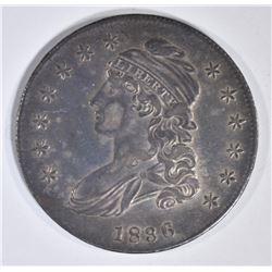 1836 BUST HALF DOLLAR  ORIG CH AU LETER EDGE