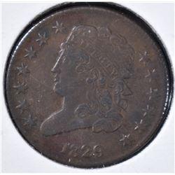1829 HALF CENT  XF