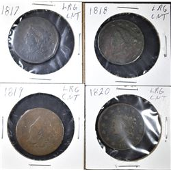 LOT OF 4 LARGE CENTS: