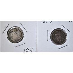 1838 F & 1840-O G SEATED DIMES