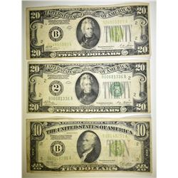 $50 FACE VALUE CURRENCY LOT: