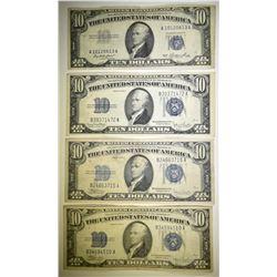 2 1934-C, 1934-D & 1953 $10 SILVER CERTIFICATES
