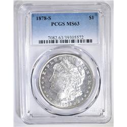 1878-S MORGAN DOLLAR  PCGS MS-63