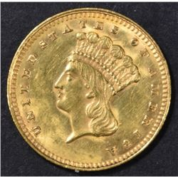 1862 $1 GOLD INDIAN PRINCESS  BU