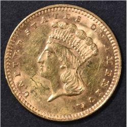 1874 $1 GOLD INDIAN PRINCESS  BU