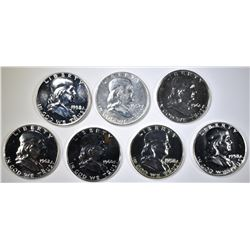 PROOF FRANKLIN HALF DOLLAR LOT: