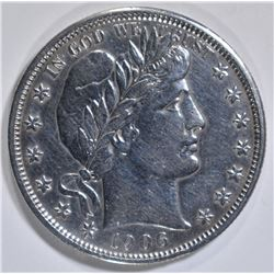 1906 BARBER HALF DOLLAR AU CLEANED