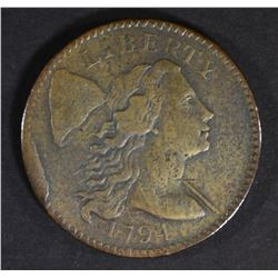 1794 LARGE S LARGE CENT  VF/XF