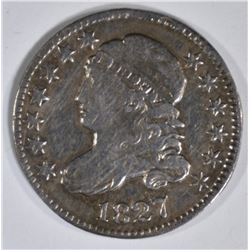 1827 BUST DIME  AU  OLD CLEANING