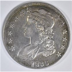 1836 BUST HALF DOLLAR  CH AU  LETTER EDGE