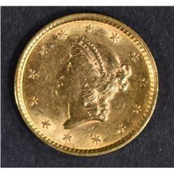 1852 $1 GOLD LIBERTY  NICE BU
