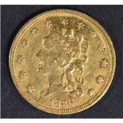 1836 $2.5 GOLD LIBERTY  AU
