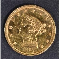 1857  $2.5 GOLD LIBERTY  NICE BU  PL