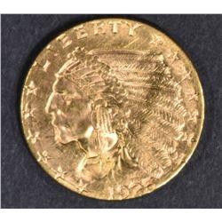 1925-D $2.5 GOLD INDIAN  GEM BU