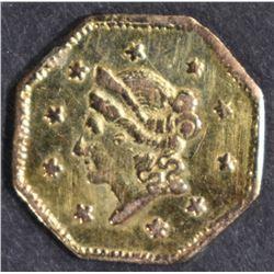 1855/4 $1 CALIFORNIA GOLD  CH BU