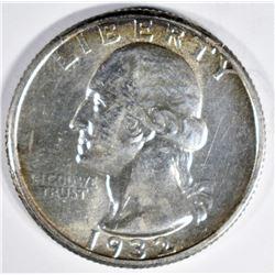 1932 WASHINGTON QUARTER CH/GEM BU