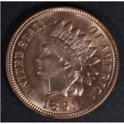 1891 INDIAN HEAD CENT CH BU RB