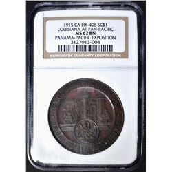 1915 LOUISIANA  AT PAN-PAC HK-406 NGC MS-62 BN
