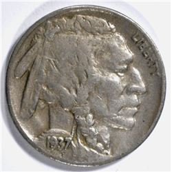 1937-D 3 LEG BUFFALO NICKEL VF
