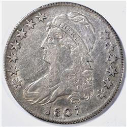 1807 50/20 BUST HALF DOLLAR, VF