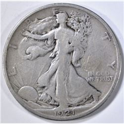 1921-D WALKING LIBERTY HALF, FINE
