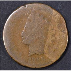 1869 INDIAN CENT, AG
