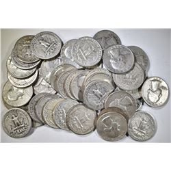 40-MIXED 90% SILVER U.S. QUARTERS