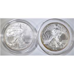 2007 & 2009 AMERICAN SILVER EAGLES
