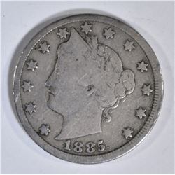 1885 LIBERTY NICKEL SOLID VG/FINE KEY DATE COIN