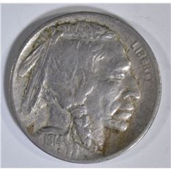1914-D BUFFALO NICKEL, VF+  KEY DATE
