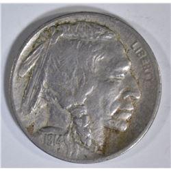 1914-D BUFFALO NICKEL, VF+  KEY DATE