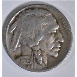 1925-S BUFFALO NICKEL, VF