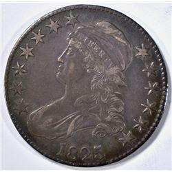 1825 BUST HALF DOLLAR, AU