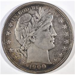 1900 BARBER HALF DOLLAR, XF