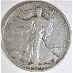1919-D WALKING LIBERTY HALF, FINE