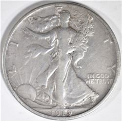 1919-S WALKING LIBERTY HALF VF
