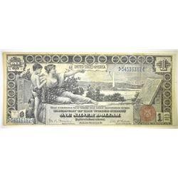 1896 $1 SILVER CERTIFICATE XF