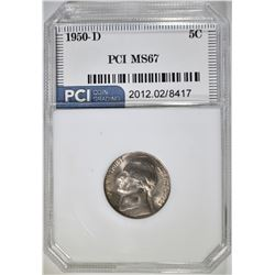 1950-D JEFFERSON NICKEL, PCI SUPERB GEM BU