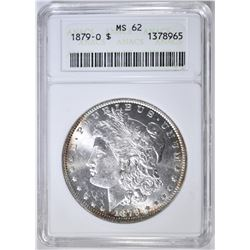 1879-O MORGAN DOLLAR, ANACS MS-62